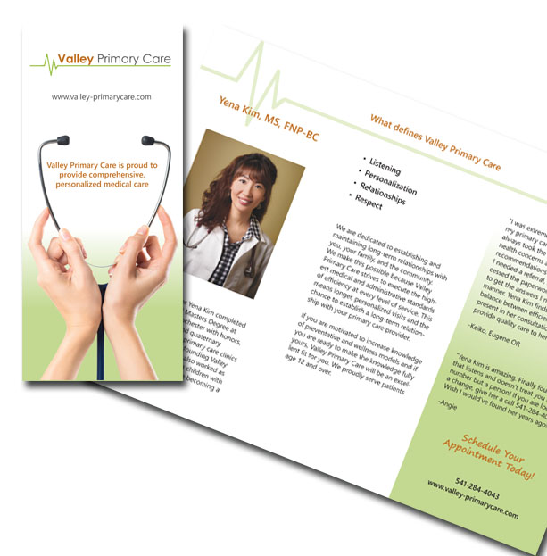 brochure design graphics Rainsong Design Eugene Oregon