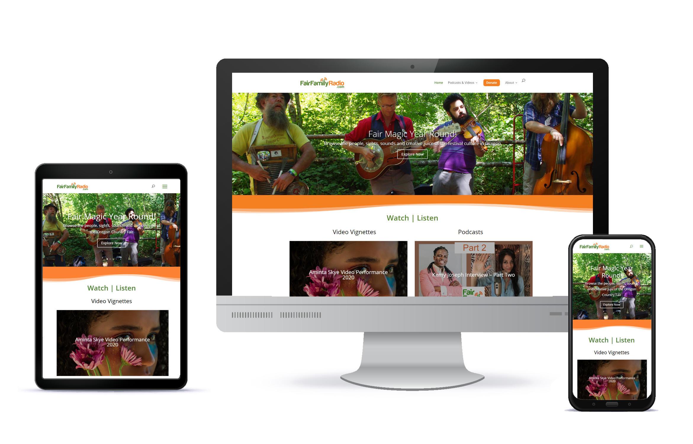 rainsong design website development Eugene oregon