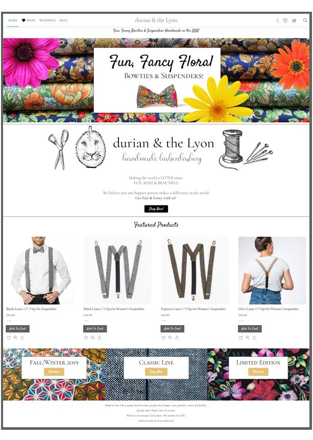 fun fancy bowties website image rainsong design